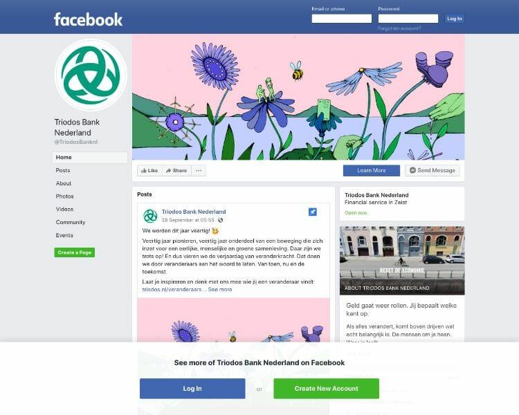 Triodos Bank facebook