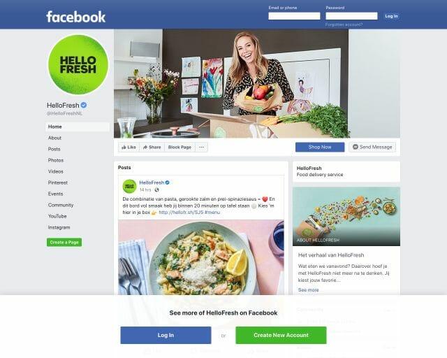 Facebook HelloFresh