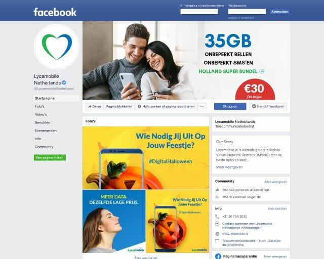 Facebook Lyca Mobile