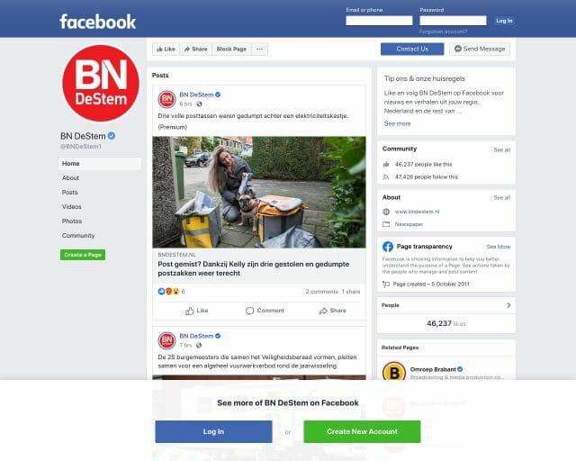 facebook BN De Stem