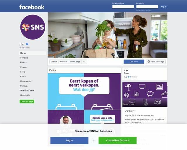 facebook SNS Bank
