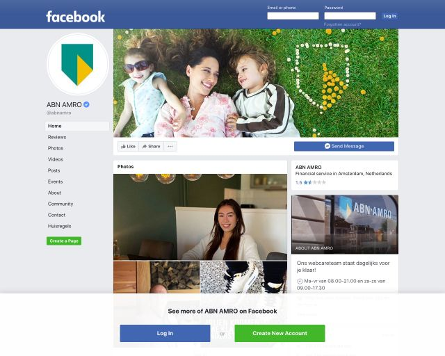 facebook abnamro