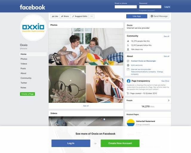 facebook oxxio