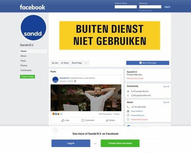 facebook sandd