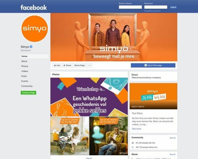 facebook simyo
