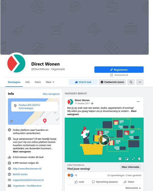 direct wonen facebook