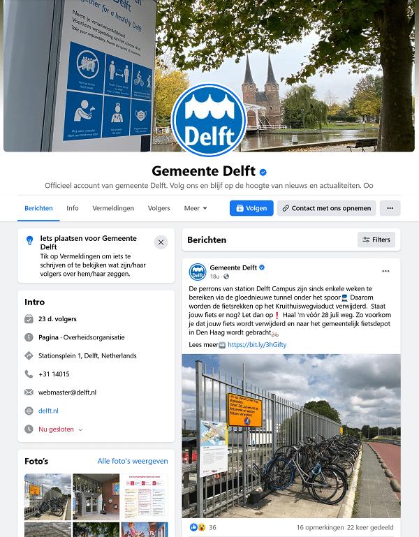 facebook gemeente delft