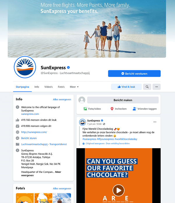 facebook sun express