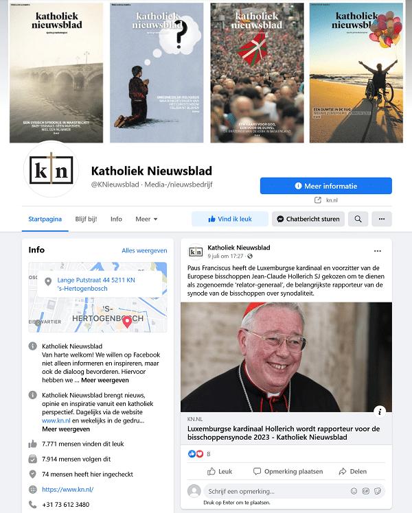 katholiek nieuwsblad facebook
