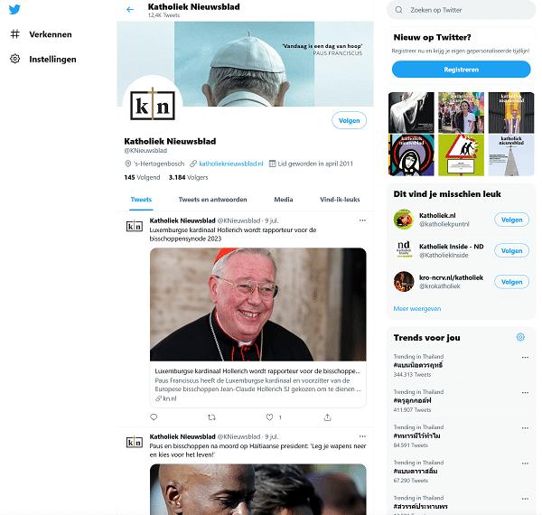 katholiek nieuwsblad twitter