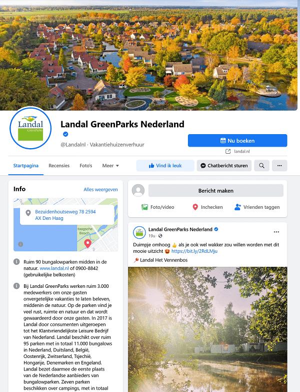 landal facebook