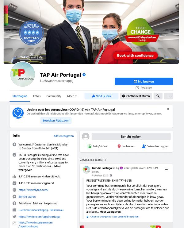 tap air portugal facebook