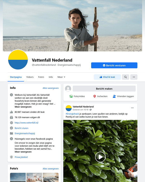 vattenfall facebook