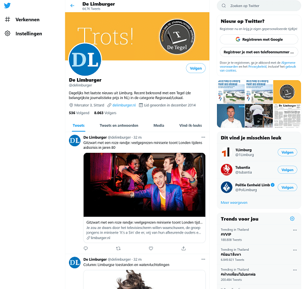 dagblad de limburger twitter