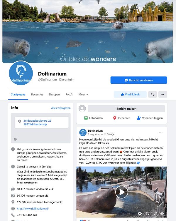 dolfinarium facebook