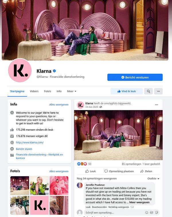 klarna facebook