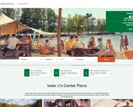 centerparcs.nl website