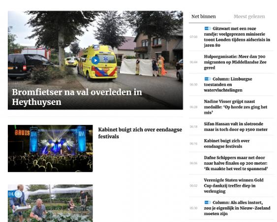 dagblad de limburger website