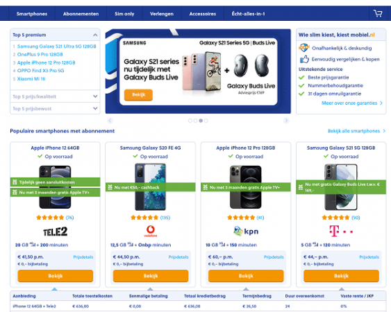 mobiel.nl website