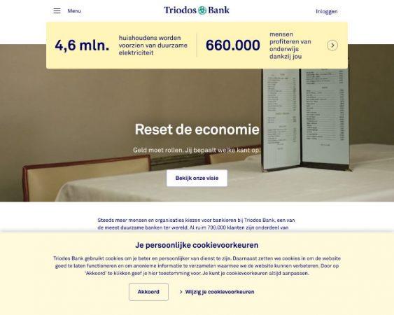 Triodos Bank Website