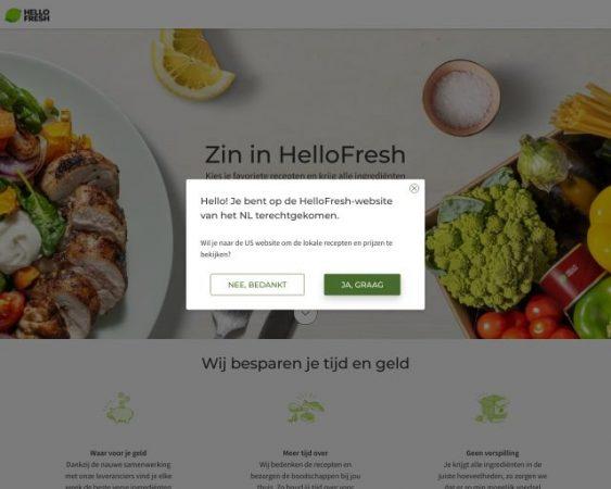 website hellofresh.nl