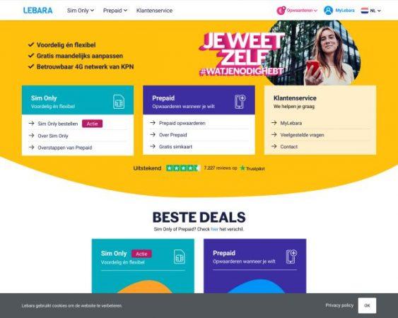 website lebara.com