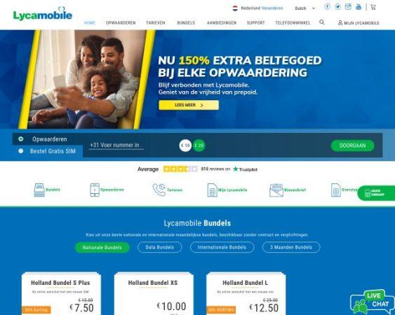 website lycamobile.nl