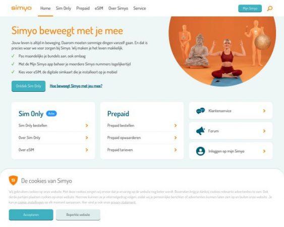 website simyo.nl