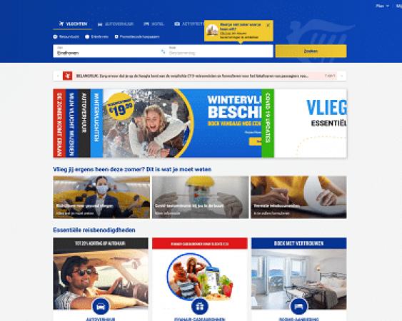 website van Ryanair