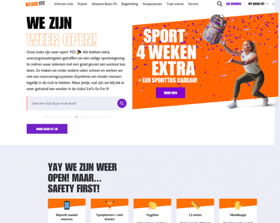 website van basic fit