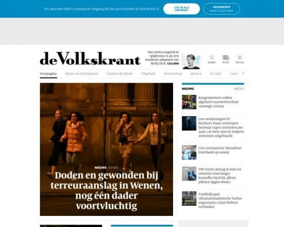 website volkskrant.nl